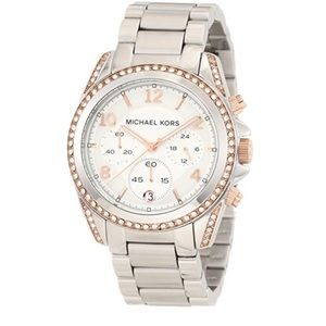 Women's MK5459 Blair Silver & Rose Gold Watch
